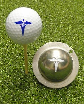 1 only TIN CUP GOLF BALL MARKER- SWING DOCTOR  EASY TO DO & yours for life