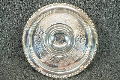 """Oneida Silver Plate Snack Plate W/ Attached Dip Bowl 12 1/4"""""""