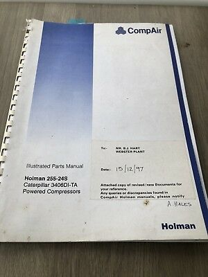 Compair Holman 255-24S Portable Air Compressor  Illustrated Parts List Cat3406Di