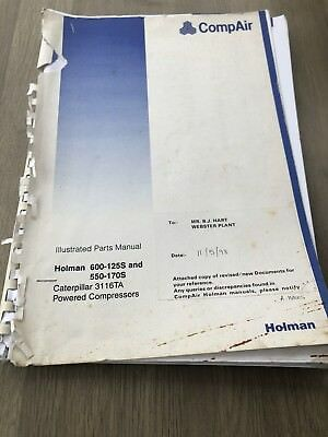 Compair Holman 600-125S 550-170S Portable Air Compressor  Illustrated Parts List