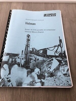 Compair Holman Rotair 75-170  Air Compressor Gm Engine  Illustrated Parts List