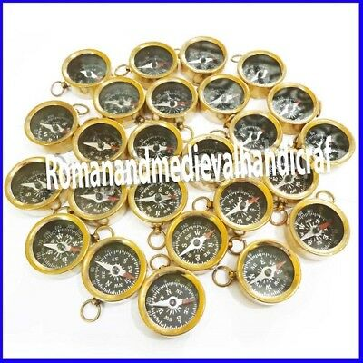 Brass Compass Keychain Nautical Lot of 100 Pcs Antique EDH