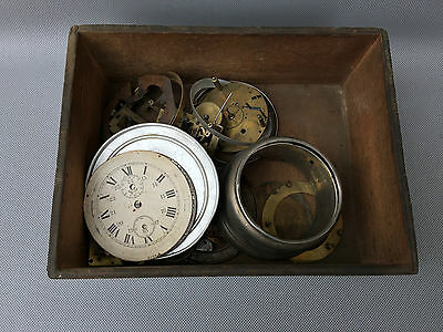 Lot D'Antique Mechanism of old Clock Eve Watchmaking French Antique