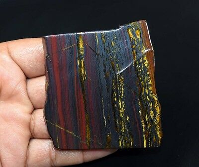 405.15 Cts. 100% Natural Multi Iron Tiger Slice For Making Cabochons