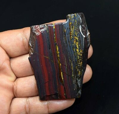 260.60 Cts. 100% Natural Multi Iron Tiger Slice For Making Cabochons