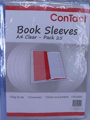 25 x Clear Book Jacket / Sleeve Slip for A4 Size Contact  23093