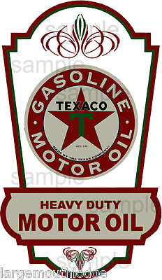 Vintage Style 6 Inch Texaco Gasoline Motor Oil Decal Sticker
