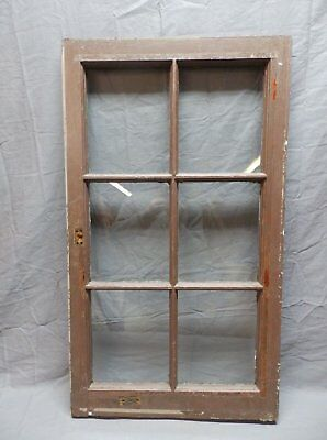 Antique 6 Lite Window Sash 35x20 Casement Sunroom Architectural Old Vtg 625-18P