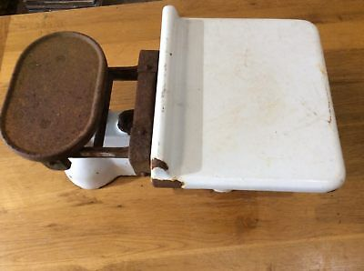 "Reclaimed Old Cast Iron Avery 7lb Weighing Balance Scales 21""x38"""
