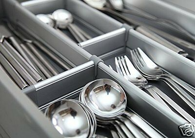 cutlery tray caddy kitchen drawer utensil organizer silverware flatware storage - Kitchen Utensil Organizer