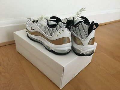 premium selection 3da94 059bb Nike Air Max 98 GMT Size 9 (UK) Exclusive White   Gold