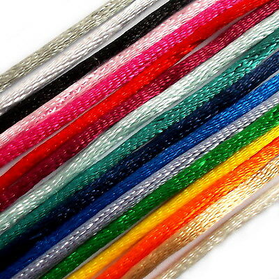 Satin Rope Rat Tail Cord Berisfords 2mm Wide - Colour Choice