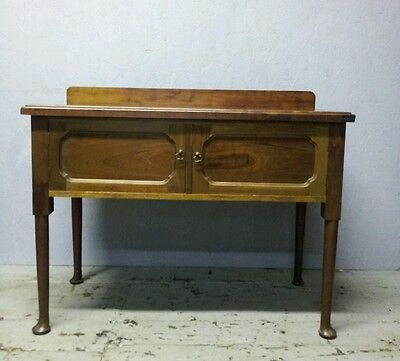 Mahogany Console Table Cabinet  Antique Cabriole Leg victorian/edwardian