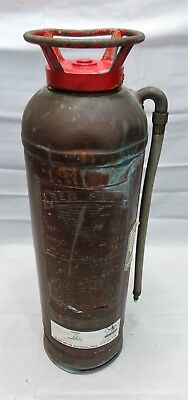 "Antique Vintage ""RED STAR Model 303"" Copper Brass Fire Extinguisher All Original"