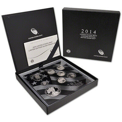 1- (#ls3) 2014 Limited Edition Eight Coin Silver Proof Set