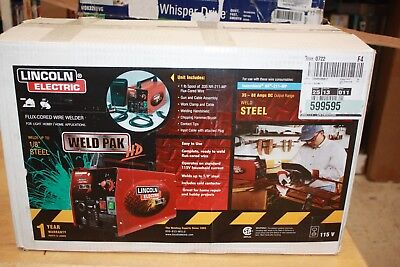 Lincoln Electric K2188-1 Weld Pack HD Flux-Cored Wire Compact Feed Welder NEW