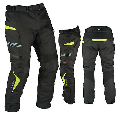 Motorcycle Trousers Waterproof Motorbike Textile Thermal Fluo Size 30