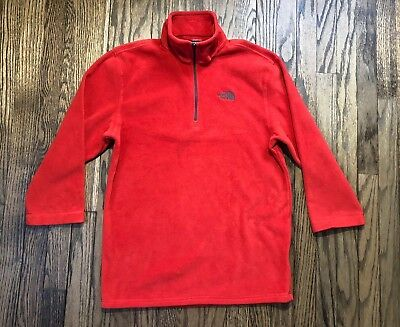 0b4f7cb02 THE NORTH FACE Mens Half Zip Fleece Pullover Sweater 3/4 Sleeve Size Small