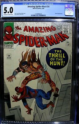 """AMAZING SPIDER-MAN #34 3/66  Silver Age CGC Graded 5.0 """" Just Graded By CGC"""""""