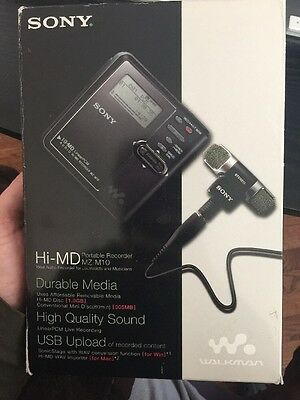 SONY HI-MD MiniDisc  MZ-M10(apple  compatible) himd + ECM-DS70P mic,Brand New.