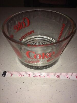 Retro Coke Coca Cola Glass Snack Bowl Heavy