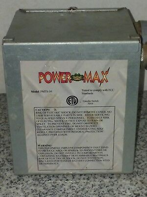 Powermax Pmts-30   30 Amp Rv Generator To Shoreline Automatic Transfer Switch