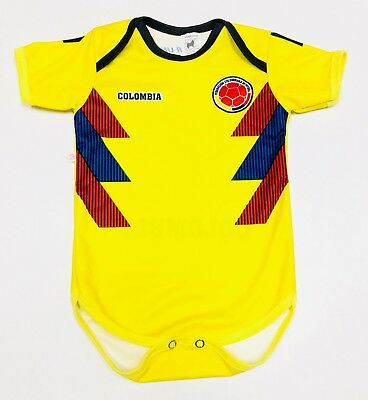 84df79daf COLOMBIA JERSEY WORLD Cup Baby  mameluco 0-6  6-12 Months Custom ...