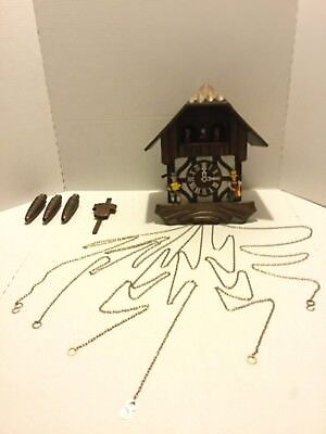 NICE! Vintage German Wooden Musical Cuckoo Coo Coo Clock Black Forest Germany