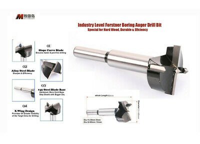 Industry Level Forstner Boring Auger Drill Bit Metric Hole Saw f Hard Solid Wood