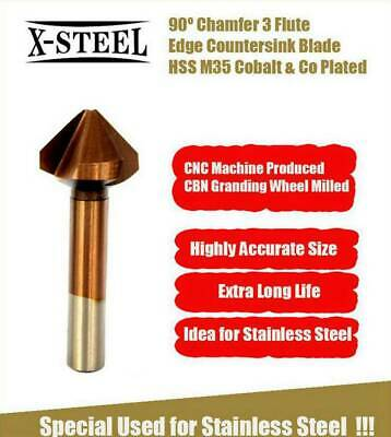 HSS M35 Cobalt End Milling Cutter Edge Countersink Drill Bits f Stainless Steel