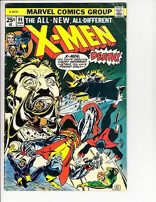 X-Men (1963 1st Series) # 94  VG-  new X-Men team begins!  BRONZE AGE KEY