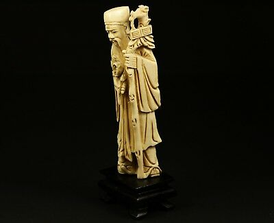 Alte Beinschnitzerei statuette Figur antique China