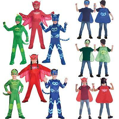 OFFICIAL UK PJ Masks Boys Girls Superhero Kids Child Fancy Dress Costume Outfit