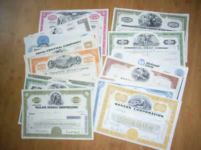 USA: Lot of 100 diff USA share and small size bond certificates, 1950s - 1990s