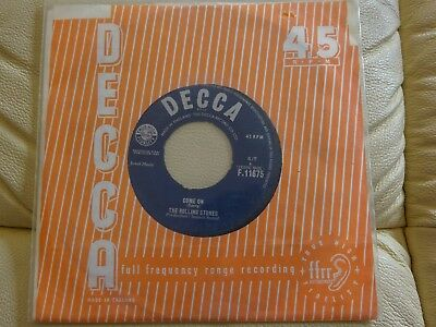 Single - The Rolling Stones - Come On - Beat Rock Pop Oldies