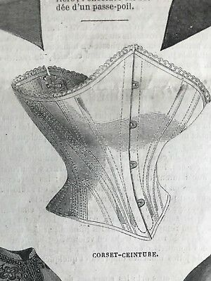 Year 1863 - MODE ILLUSTREE SEWING PATTERN Apr 27,1863 -MANTELET BEARNAIS, CORSET