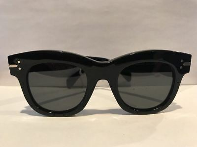 Celine CL 41079/S 807BN Black Cat Eye Sunglasses Made in Italy Authentic