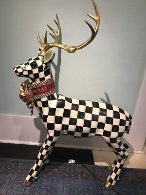 MacKenzie-Childs Courtly Check Standing  Deer Retail $825.00 NWT