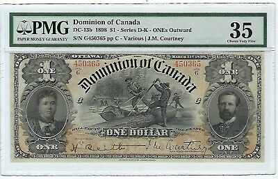 1898 Dominion of Canada $1 DC-13b PMG 35