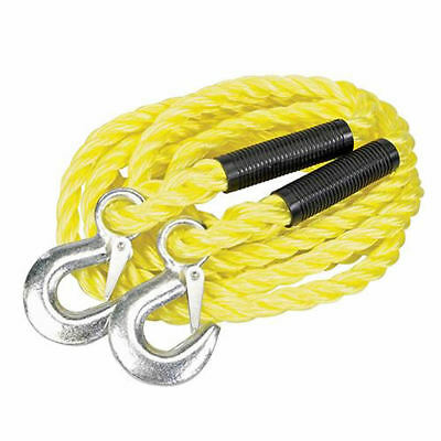4M 2T Tonne Tow Towing Pull Rope Strap with Hooks Car Vehicle 4x4 Road Recovery