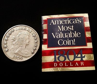 "1804 Bust Dollar ""America's Most Valuable Coin"" Attractive Copy"
