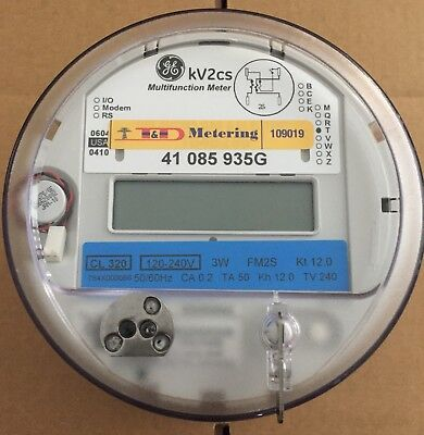 GENERAL ELECTRIC (GE) - WATTHOUR METER (KWH), MODEL KV2Cs, 240 VOLTS, 320A, FM2S