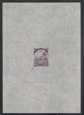 Liberia # 21 NH Large Defaced Proof on Transparent Paper in Unissued Violet