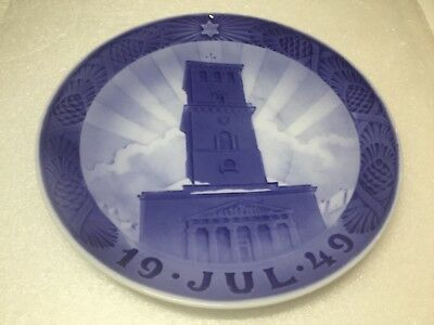 Royal Copenhagen Christmas Jule Yule Plate 1949 Our Lady's Cathedral
