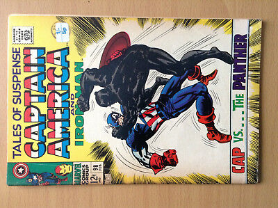 Tales of Suspense #98 Penultimate Issue - Capt America vs Black Panther - Feb 68
