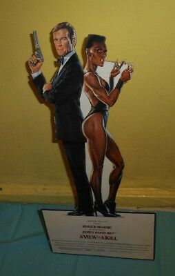 vintage James Bond 007 A VIEW TO A KILL counter display small standee