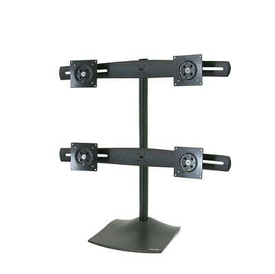 Ergotron DS100 Quad-Monitor Desk Stand 2x2 LCD 100mm VESA mounts 33-324-200