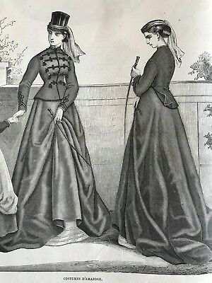 MODE ILLUSTREE SEWING PATTERN Sept 1,1867 DIGITAL DOWNLOAD- 4 CORSETS,2 AMAZONE