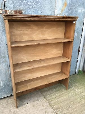 Reclaimed Old Three Shelf Pine Bookcase 3ft 2insW X 4ftH