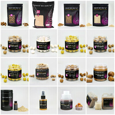 Sticky Cebos Manila Boilies, Pellets, Pop Ups ,Wafters, Glug The Total Serie